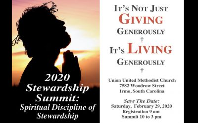 Save the date: 2020 UMCSC Stewardship Summit