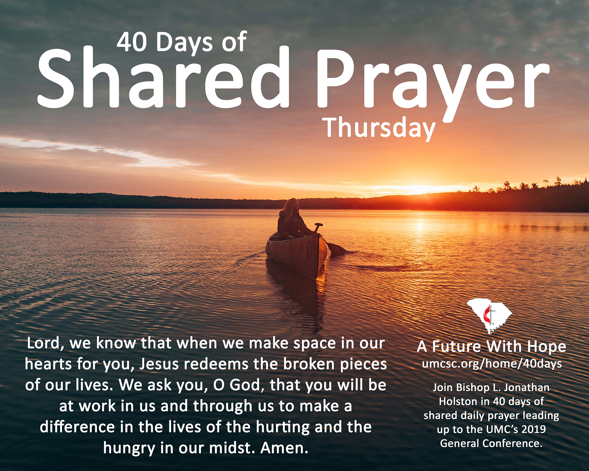 Bishop Holston: Come together for 40 days of daily prayer