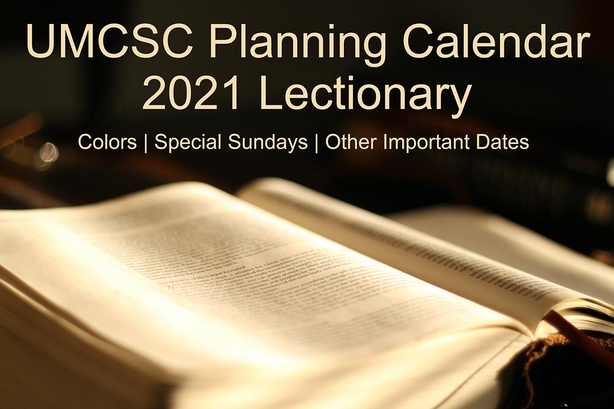 United Methodist Calendar 2022.Umcsc Planning Calendar South Carolina United Methodist Conference